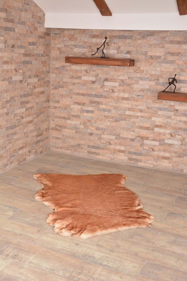 Erdogan Deri Decorative Sheepskin Rug Ginger