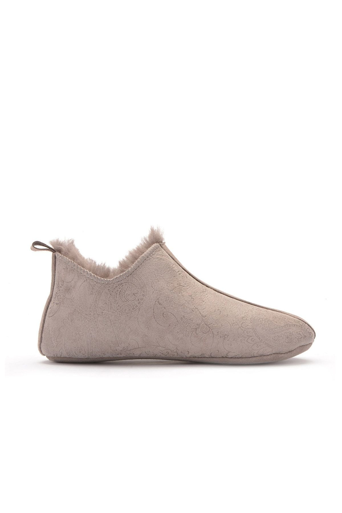 Pegia Women House-shoes From Genuine Fur Light Gray
