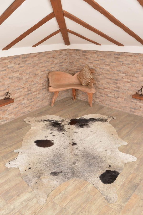 Ergogan Deri Rug From Genuine Buffalo Leather Gray