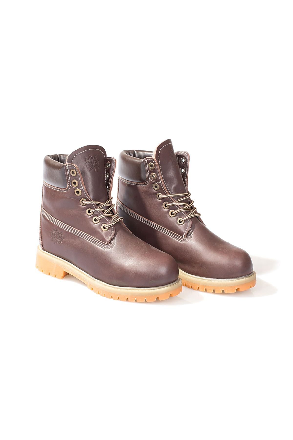 Pegia Women Boots From Genuine Leather And Fur Brown