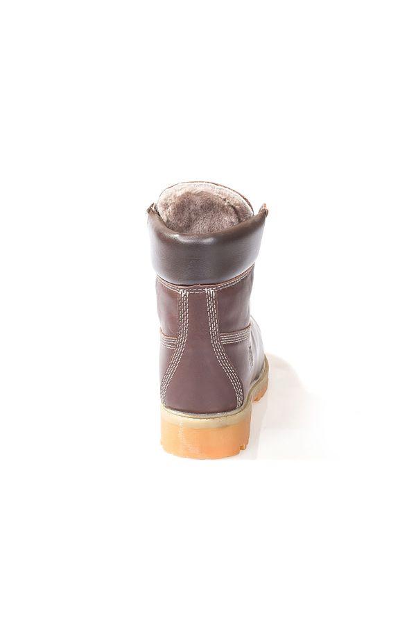 Pegia Hakiki Deri İçi Kürklü Bayan Bot  Kahve