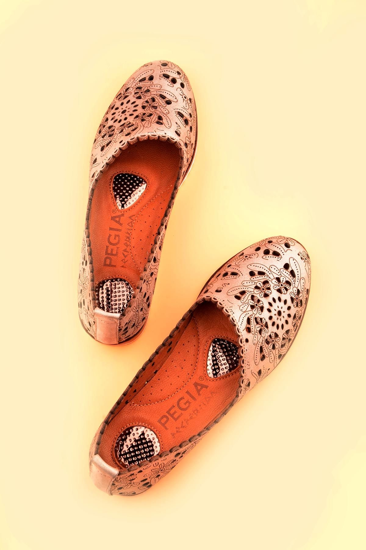 Pegia Women Shoes From Genuine Leather Bronze