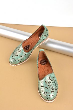 Pegia Women Shoes From Genuine Leather REC-141 Green