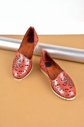 Pegia Hakiki Deri Kadın Ayakkabı Fuşya