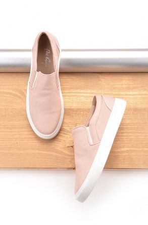 Art Goya Hakiki Deri Bayan Sneaker Pudra
