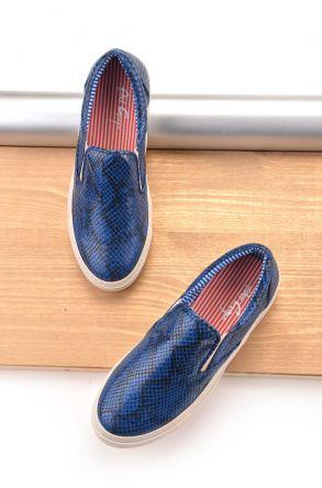 Art Goya Yılan Desenli Bayan Sneaker Lacivert