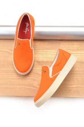 Art Goya Linen Women Sneakers Orange