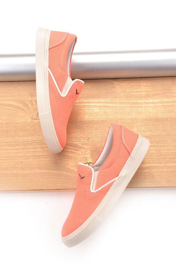 Art Goya Keten Bayan Sneaker  Fuşya