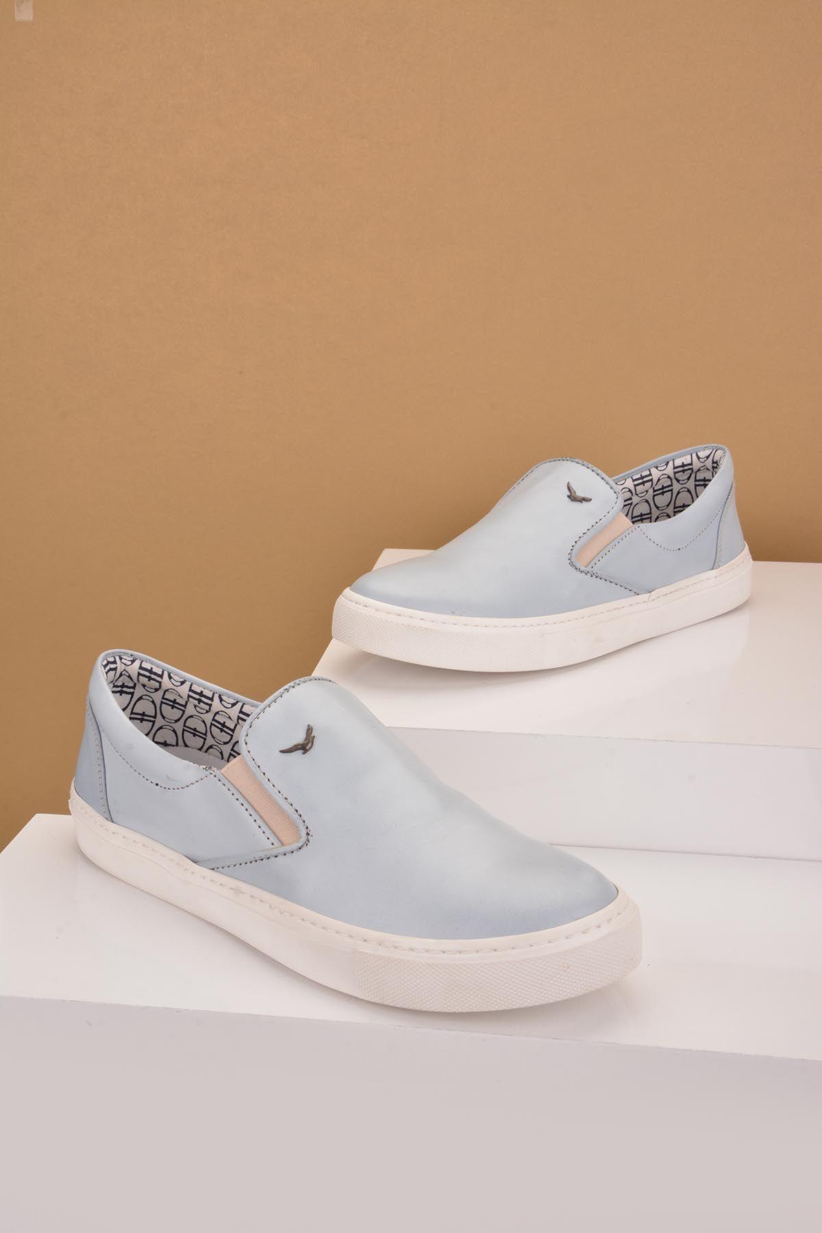 Art Goya Hakiki Deri Bayan Sneaker  Mavi