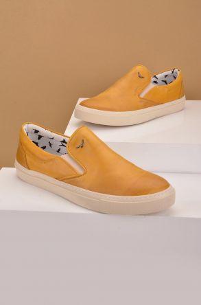 Art Goya Women Sneakers From Genuine Leather Mustard