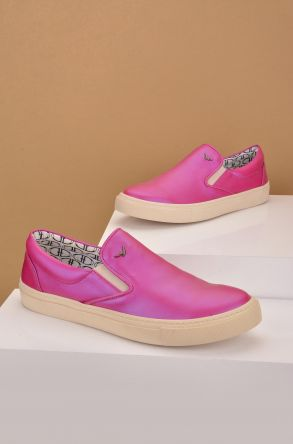 Art Goya Women Sneakers From Genuine Leather Magenta