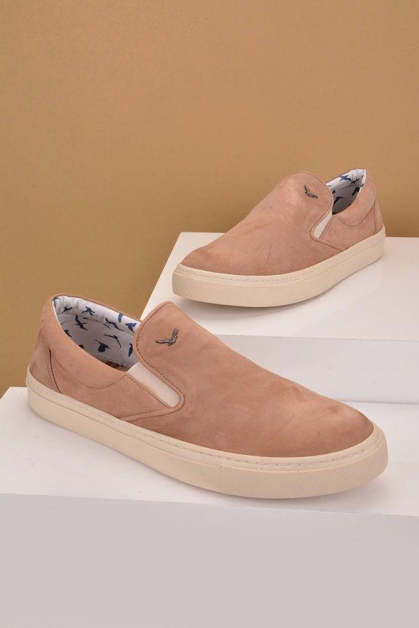 Art Goya Women Sneakers From Genuine Nubuck Sand-colored