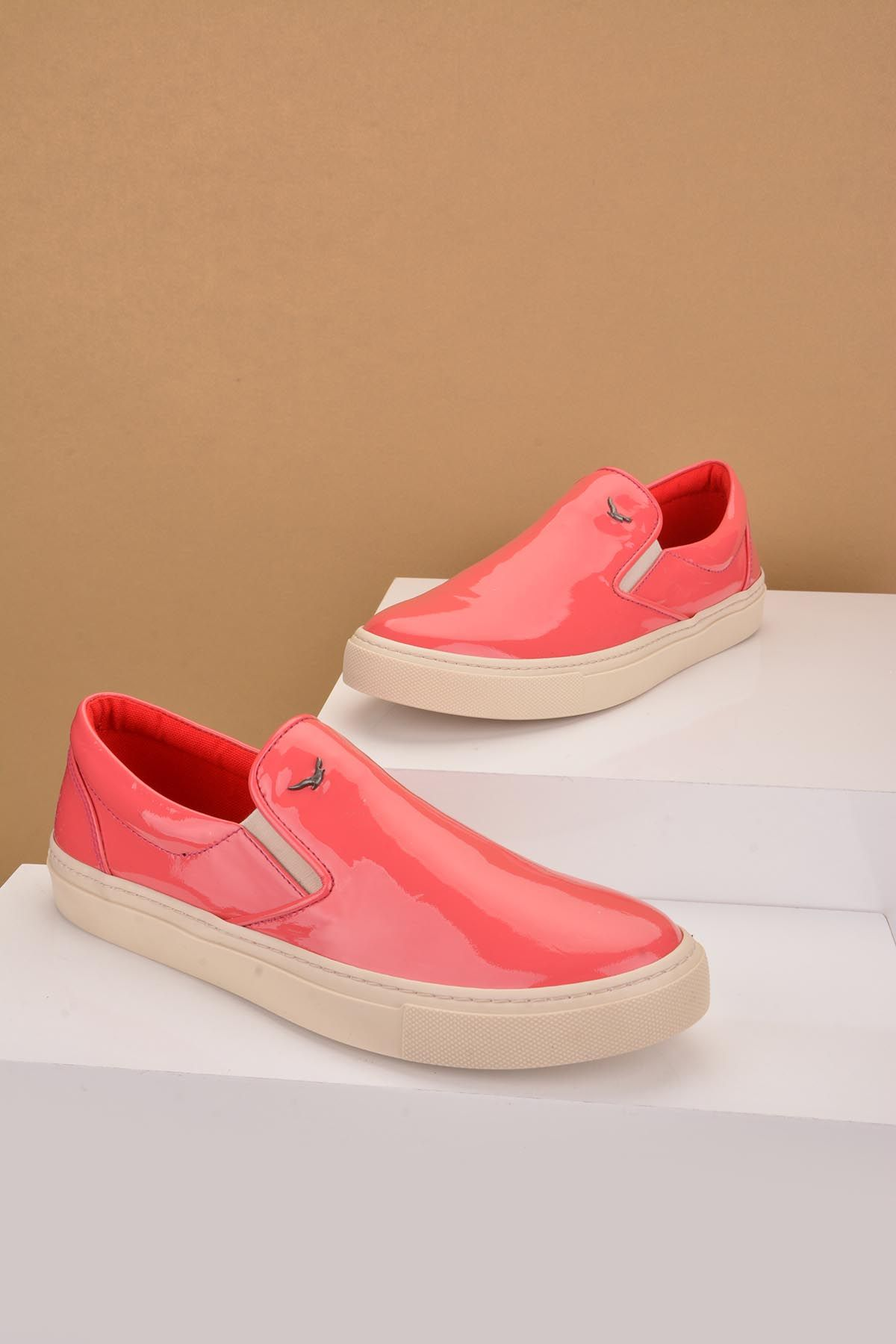 Art Goya Women Sneakers From Polished Leather Pink