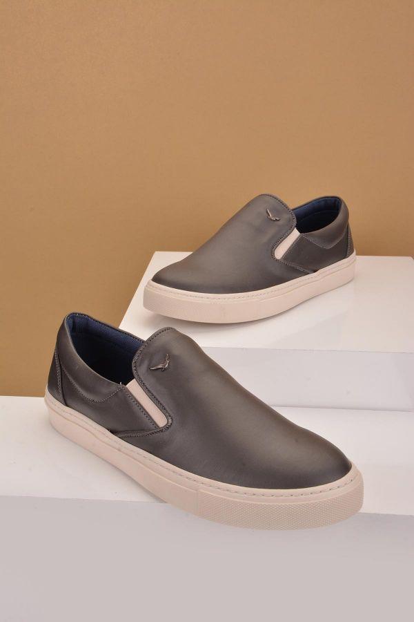 Art Goya Women Sneakers From Genuine Leather Gray