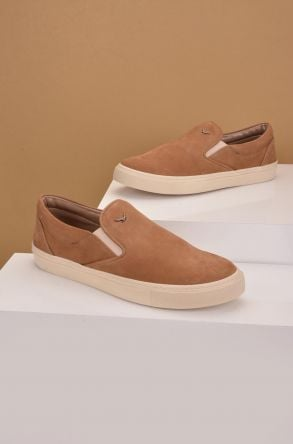 Art Goya Women Sneakers From Genuine Nubuck Sand-colored