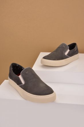 Art Goya Women Sneakers From Genuine Nubuck Gray