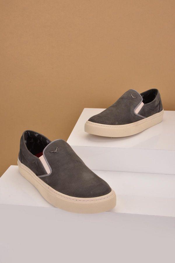 Art Goya Women Sneakers From Genuine Nubuck Gray
