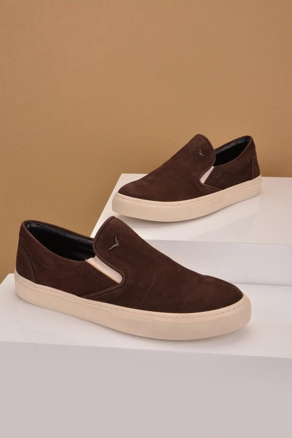Art Goya Women Sneakers From Genuine Leather And Nubuck Brown
