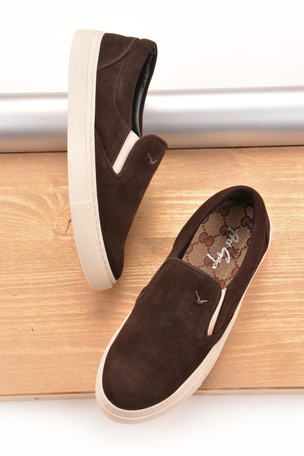 Art Goya Women Sneakers From Genuine Leather And Nubuck Dark Brown