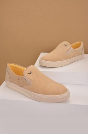 Art Goya Women Sneakers From Genuine Suede Beige