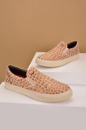 Art Goya Women Sneakers With Leopard Pattern Brown