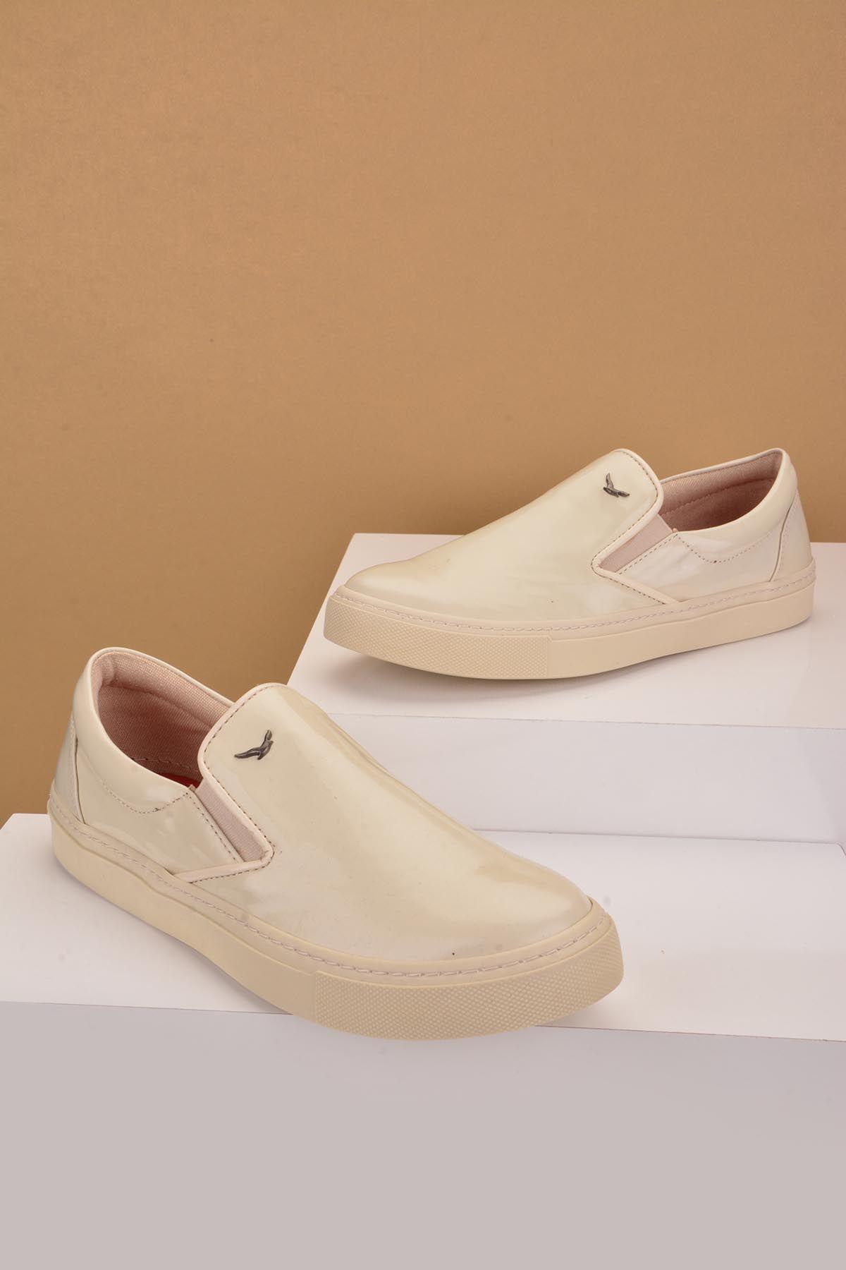 Art Goya Women Sneakers From Genuine Leather Beige