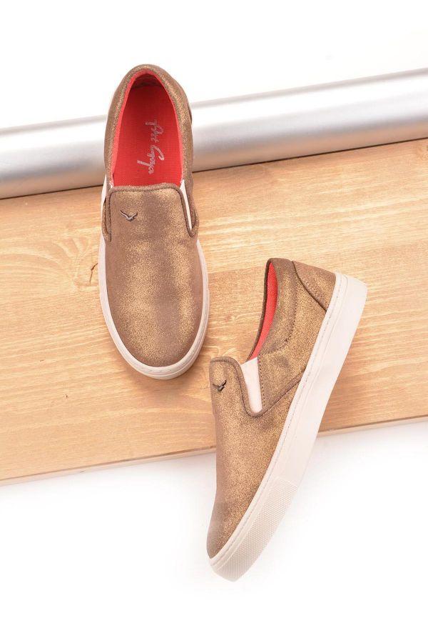 Art Goya Patterned Women Sneakers Mink
