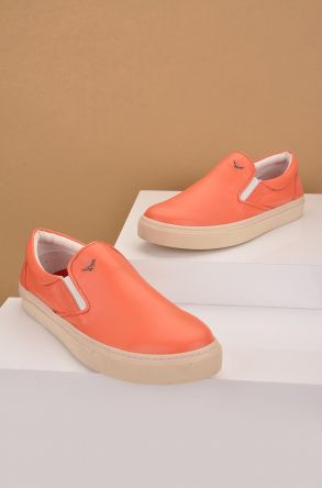 Art Goya Women Sneakers From Genuine Leather Orange