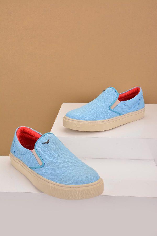 Art Goya Keten Kadın Sneaker  Açık Mavi