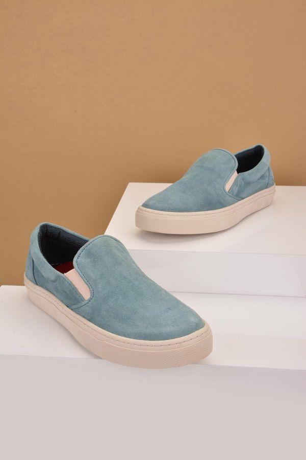 Art Goya Women Sneakers From Genuine Suede Blue