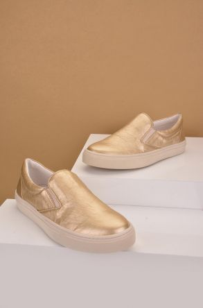 Art Goya Women Sneakers From Genuine Leather Golden