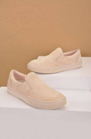 Art Goya Women Sneakers From Genuine Nubuck Beige