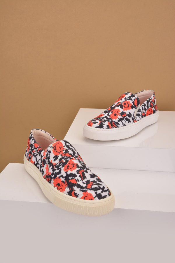 Art Goya Patterned Women Sneakers White