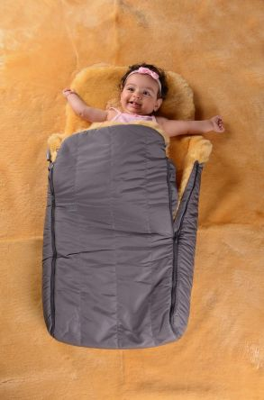 Sheepy Care Double Zippered Baby Sleeping Bag Gray