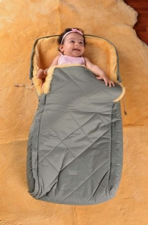 Sheepy Care Double Zippered Baby Sleeping Bag Green