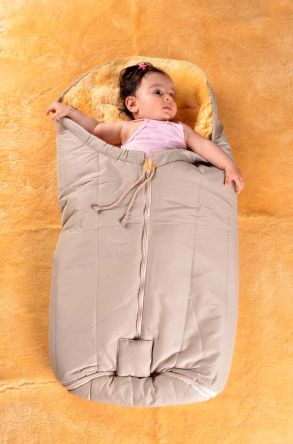 Sheepy Care Zippered Baby Sleeping Bag Beige