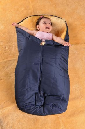 Sheepy Care Zippered Baby Sleeping Bag Navy blue