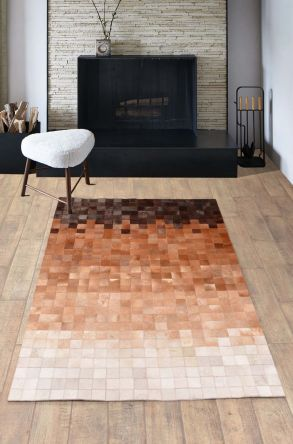 Dericibey Calfskin Rug Brown