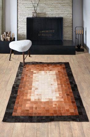 Dericibey Calfskin Rug Natural