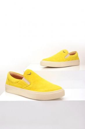 Art Goya Women Sneakers From Genuine Suede Yellow