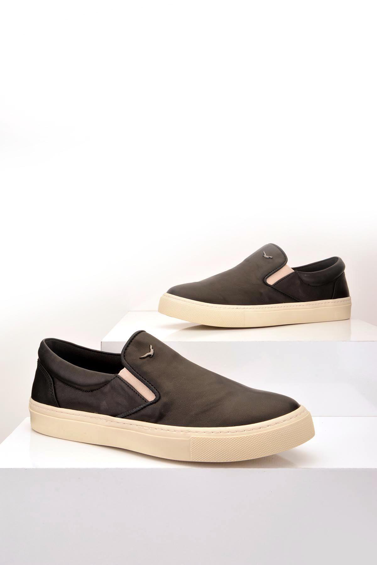 Art Goya Hakiki Deri Bayan Sneaker Siyah