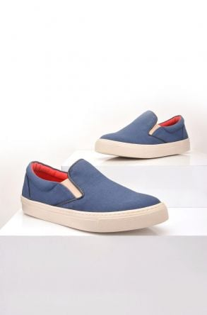 Art Goya Linen Women Sneakers Navy blue