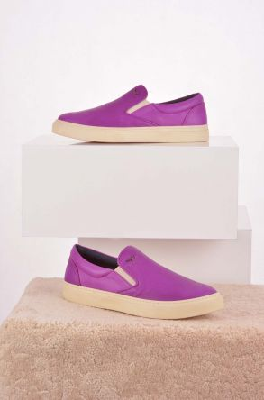 Art Goya Hakiki Deri Kadın Sneaker Purple
