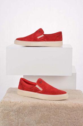 Art Goya Hakiki Nubuk Deri Kadın Sneaker Kırmızı