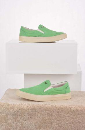 Art Goya Hakiki Nubuk Deri Kadın Sneaker Açık Yeşil