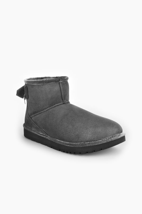 Tms Extra-Short Women Uggs With Bow Gray