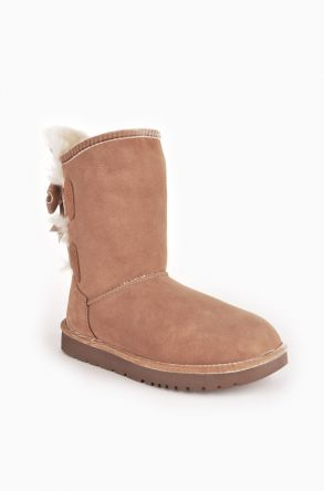 Tms Women Uggs From Genuine Fur With Bow Ginger
