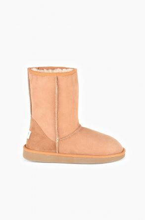 Pegia Classic Women Ugg Boots From Genuine Suede And Sheepskin Fur Ginger