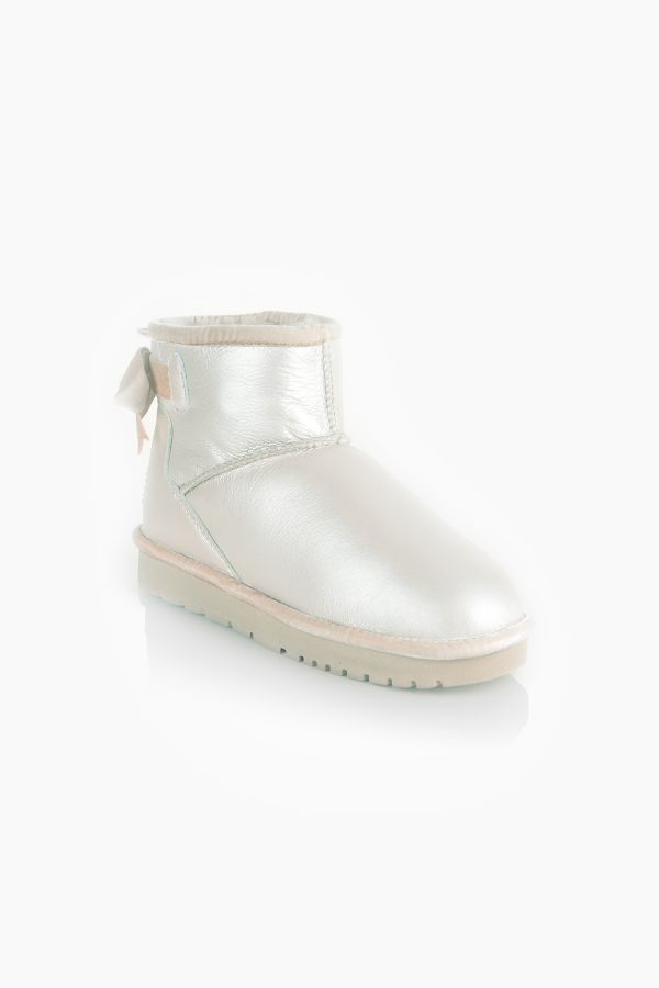 Tms Extra-Short Women Uggs With Bow Beige