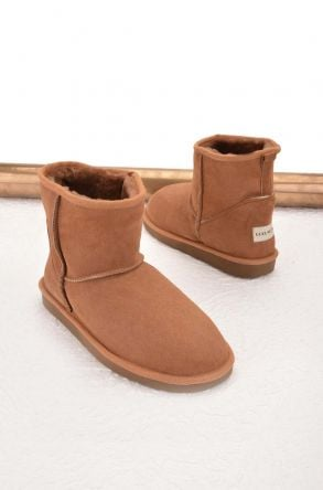 Cool Moon Women Ugg Style Boots From Genuine Sheepskin Fur Ginger